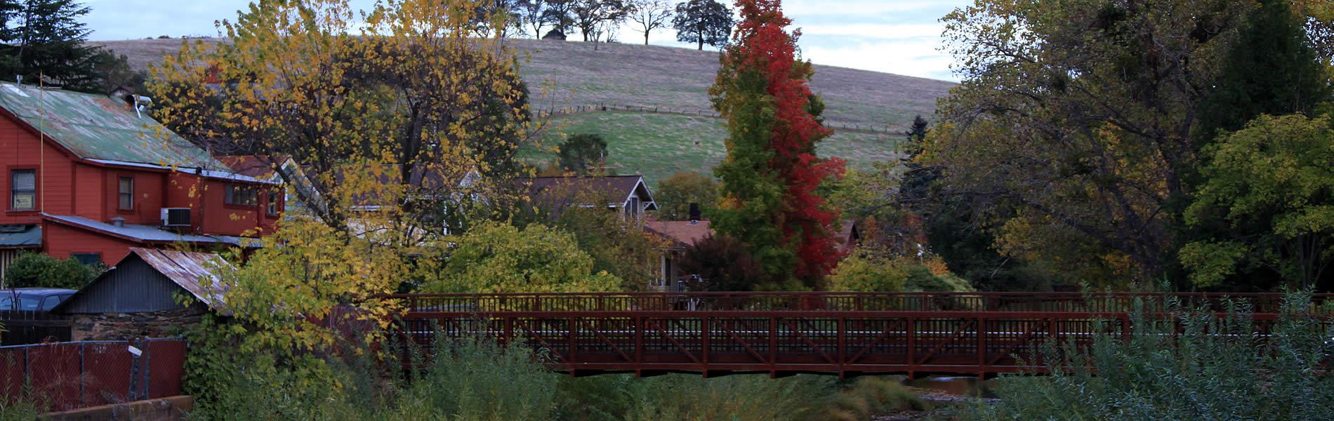 sutter creek california fall scene
