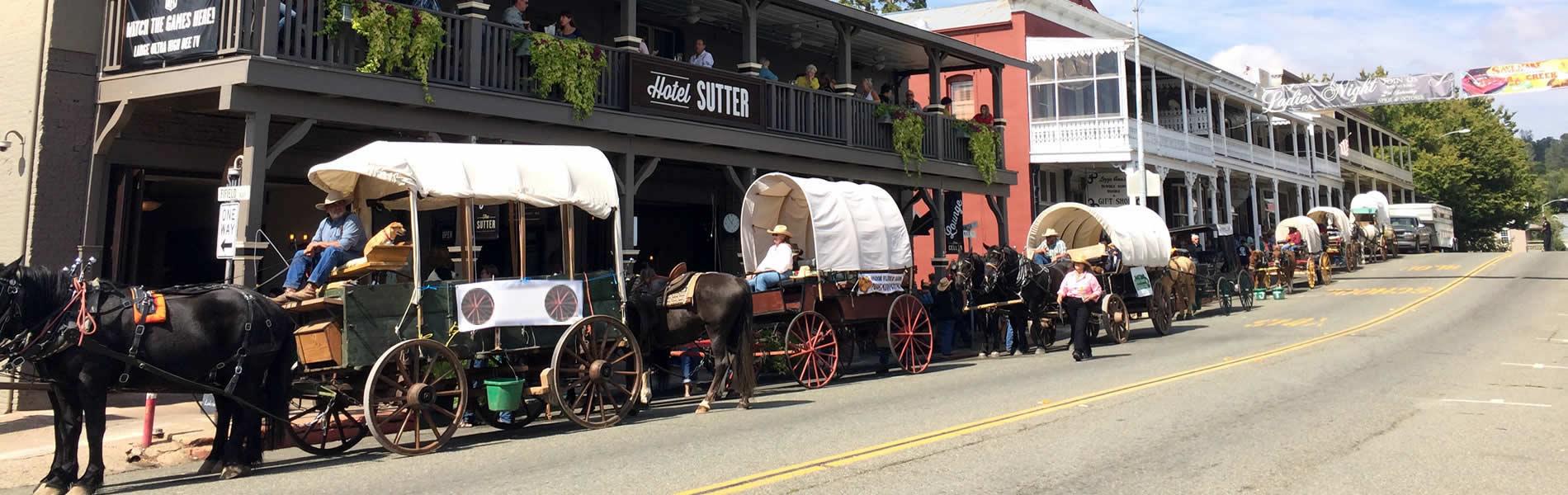 sutter creek wagon train