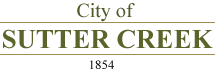 City of Sutter Creek – Amador County California Logo