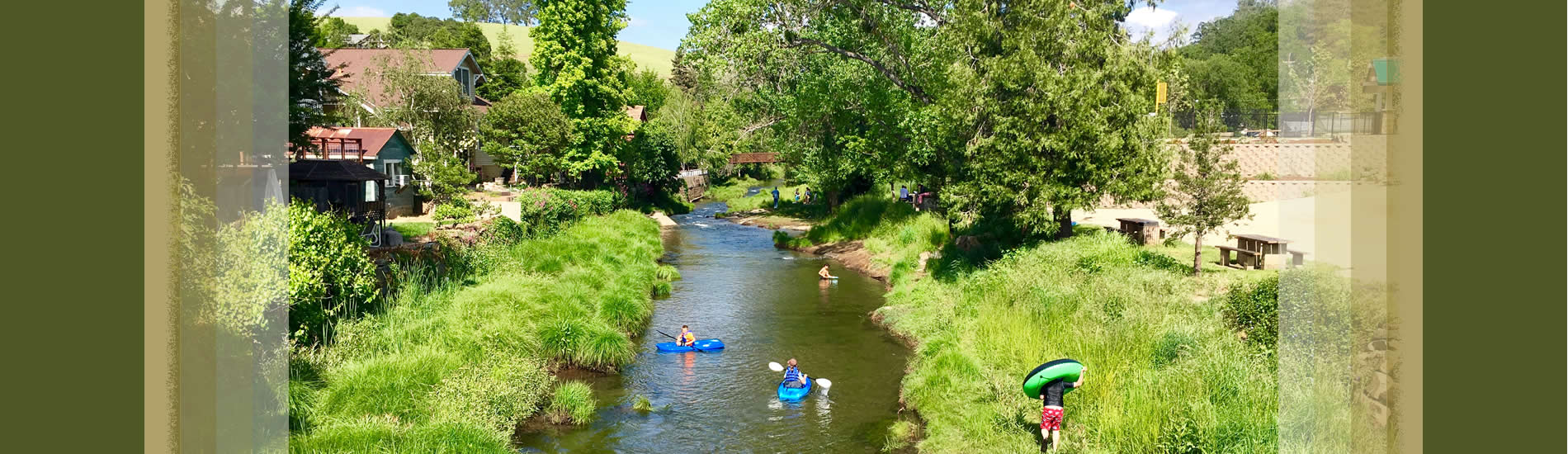 city of sutter creek announcements - creek with children playing