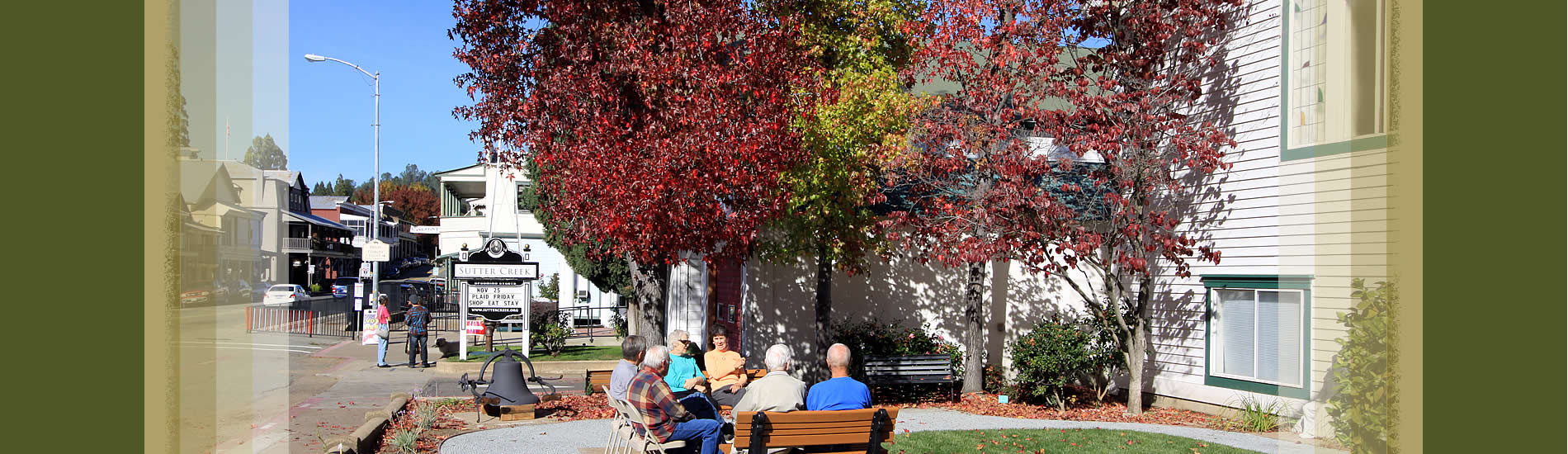 sutter creek city administration- fall colors and citizens