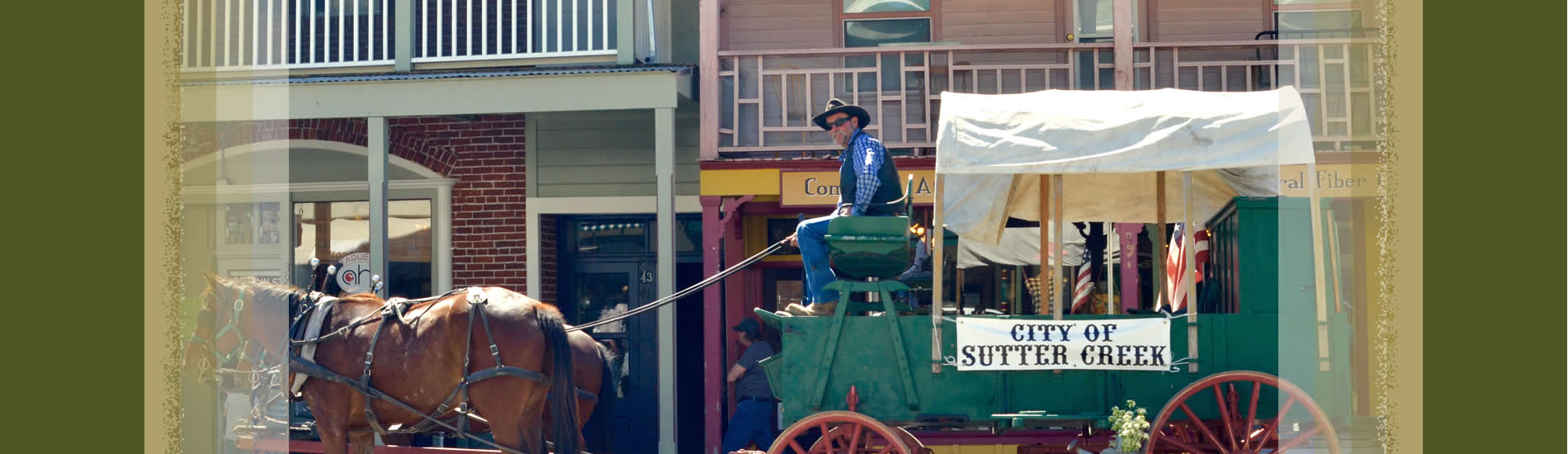 city of sutter creek wagon train