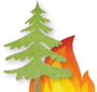 wildfires with tree