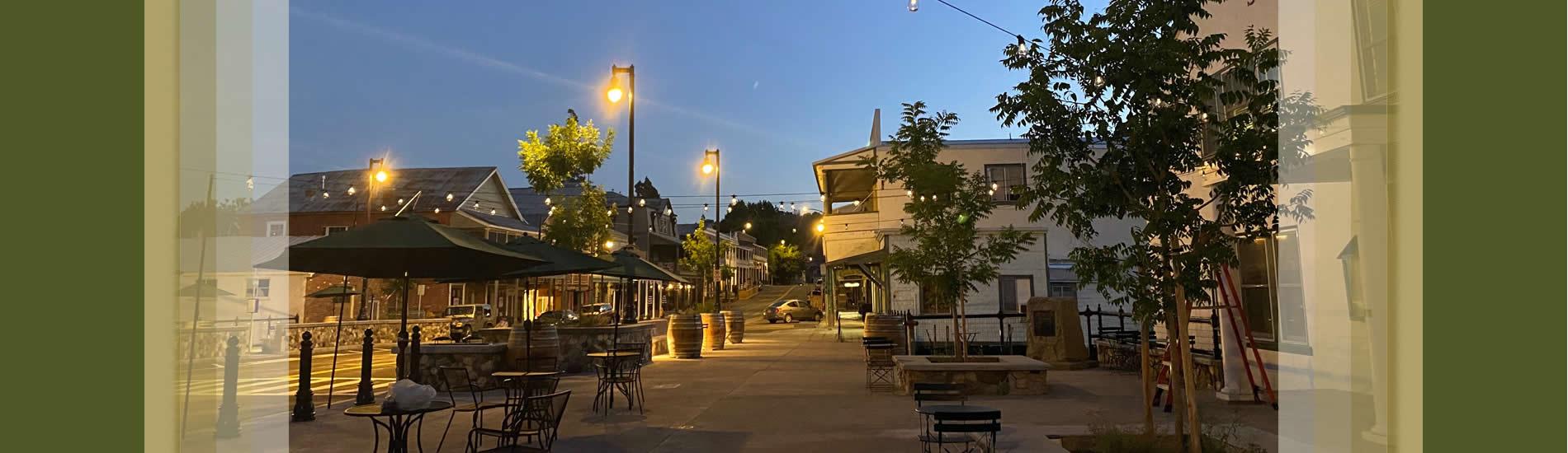 sutter creek main street at twilight